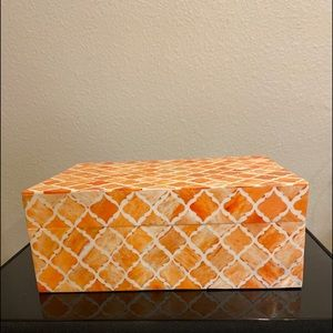 Wooden Orange Memory and Storage Box